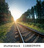 Railway Tracks Leading Into...