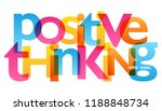 positive thinking typography... | Shutterstock .eps vector #1188848734