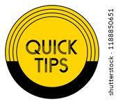 quick tips  helpful tricks... | Shutterstock .eps vector #1188850651