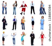 group of workers people set.... | Shutterstock . vector #118885084