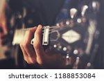closeup hands playing an... | Shutterstock . vector #1188853084