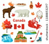 canada icons set. canadian... | Shutterstock .eps vector #1188853297