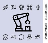 icon set. robot  chat  drone... | Shutterstock .eps vector #1188853801