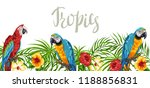 tropical background with... | Shutterstock .eps vector #1188856831