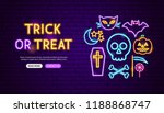 Trick Or Treat Neon Banner...