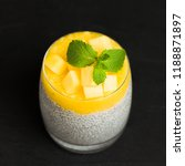 chia seeds pudding with mango... | Shutterstock . vector #1188871897