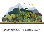 vector tropical rainforest... | Shutterstock .eps vector #1188872674