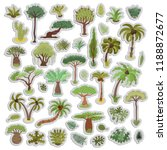 collection of tropical trees... | Shutterstock .eps vector #1188872677