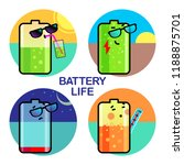 vector life battery set of... | Shutterstock .eps vector #1188875701