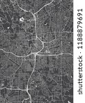 city map atlanta  monochrome... | Shutterstock .eps vector #1188879691