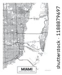 city map miami  travel vector... | Shutterstock .eps vector #1188879697