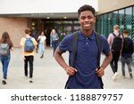 portrait of smiling male high... | Shutterstock . vector #1188879757