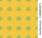 seamless pattern with trees on... | Shutterstock .eps vector #1188882871
