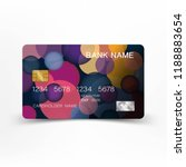 colorful credit card template... | Shutterstock .eps vector #1188883654