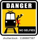 danger  no selfies  sign | Shutterstock .eps vector #1188887587