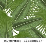 seamless pattern with tropical... | Shutterstock .eps vector #1188888187