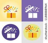 gift box vector icon  gift box... | Shutterstock .eps vector #1188888964