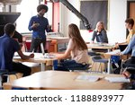 class of high school students... | Shutterstock . vector #1188893977