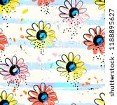 floral seamless pattern... | Shutterstock .eps vector #1188895627