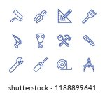 repair set vector lines icons.... | Shutterstock .eps vector #1188899641