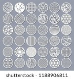 set decorative circle card for... | Shutterstock .eps vector #1188906811