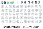 set of vector line icons of... | Shutterstock .eps vector #1188912004