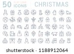 set of vector line icons of... | Shutterstock .eps vector #1188912064