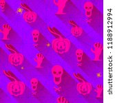 seamless pattern with halloween ... | Shutterstock .eps vector #1188912994