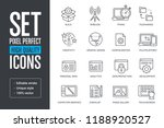 set pixel perfect high quality...   Shutterstock .eps vector #1188920527