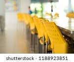 empty tables and old yellow... | Shutterstock . vector #1188923851