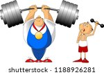 very strong man and very weak... | Shutterstock .eps vector #1188926281