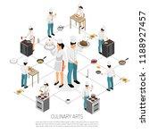 culinary art isometric...   Shutterstock .eps vector #1188927457