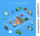 textile industry isometric... | Shutterstock .eps vector #1188929977