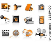 multimedia icons set   photo... | Shutterstock .eps vector #11889400