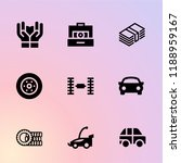 tire icon set. care  money ... | Shutterstock .eps vector #1188959167