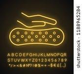 latex mattress material neon... | Shutterstock .eps vector #1188965284