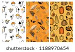 autumn pattern set. perfect for ... | Shutterstock .eps vector #1188970654