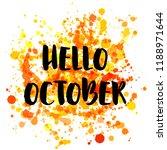orange hello october autumn... | Shutterstock .eps vector #1188971644