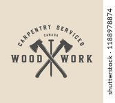 vintage carpentry  woodwork and ... | Shutterstock .eps vector #1188978874
