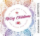 vector round christmas frame... | Shutterstock .eps vector #1188979291