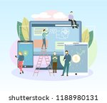 people are using mobile... | Shutterstock .eps vector #1188980131