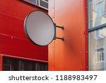 blank round store signboard... | Shutterstock . vector #1188983497