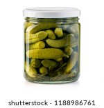 pickled cucumbers isolated....   Shutterstock . vector #1188986761