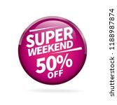 sale and special offer tag ... | Shutterstock .eps vector #1188987874