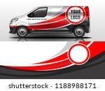 van wrap design. wrap  sticker...   Shutterstock .eps vector #1188988171