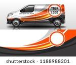 van wrap design. wrap  sticker... | Shutterstock .eps vector #1188988201