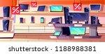 electronics store vector... | Shutterstock .eps vector #1188988381
