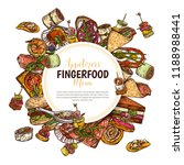 finger food background with... | Shutterstock .eps vector #1188988441