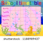 school timetable with marine... | Shutterstock .eps vector #1188989437