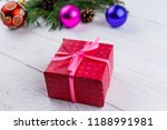 gift box and christmas... | Shutterstock . vector #1188991981